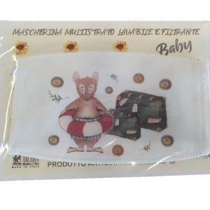 Arcadia Italy mascherina bambino cotone lavabile e filtrante
